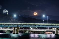 三日月の見える風景