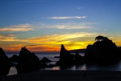 sunrise in joudo-ga-hama.