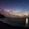 天の川と人工衛星「あじさい」