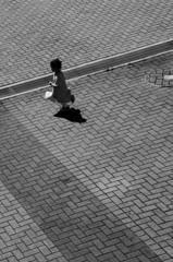 girl running away
