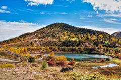 昔の草津白根山・弓池の紅葉