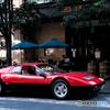 Ferrari at a café♪