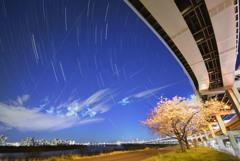 東京春の星空