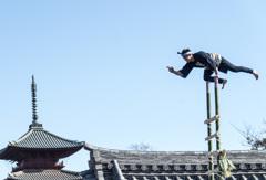 成人の日「はしご乗り」