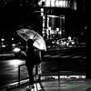 雨の街角で..