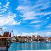 アドリア海の青い空..