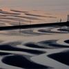 砂州と防波堤