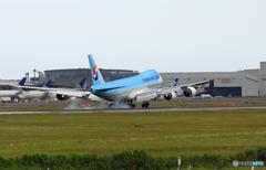 「そらー」 Korean Cargo 747-8 HL7623 着陸