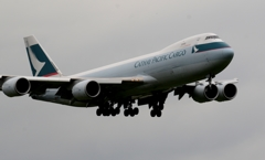 着陸(97)CATHAY CARGO 747