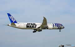 「空色」 ANA STAR WARS 787-9 JA873A 着陸