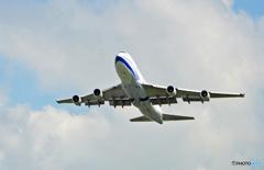 離陸China 747-400 B-18205/ジャンボ保存委員会