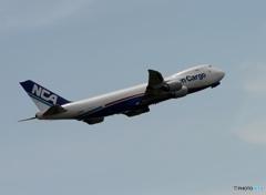 NCA 747-8F 離陸
