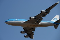 KLM Royal Dutch 747-400 離陸