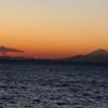 夕焼け・シルエット富士