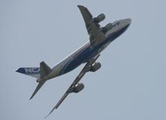 NCA 747-8KZF 離陸
