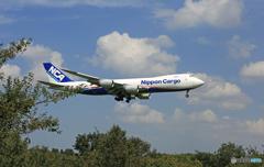 到着NCA 747-8KZF JA15KZ/ジャンボ保存委員会