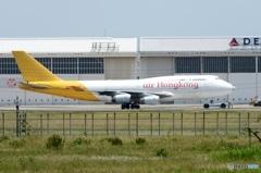 Air Hongkong 747-444 離陸