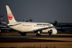 Japan Airlines 787-8 出発