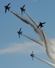 入間航空祭(97)アクロバット T-4 ブルーインパルス