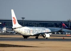 離陸 Air China 737-86N