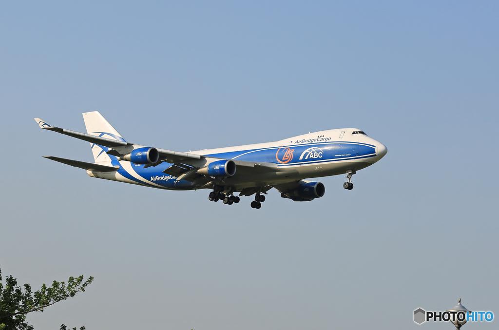 ☀Air Bridge Cargo 747-4KZF VQ-VHE着陸