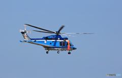 出発 長野県警ヘリ AW139 JA220E
