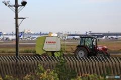 ☮休憩タイム(284)いつもと違う空港の風景 - 後ろ危ない!