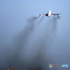 ✈ Delta ジャンボ機の名物 「スモーク」  ☁