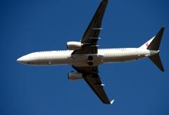 JAL 737-800 飛び立ち