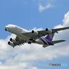 「良い天気」 Thai A380-841 HS-TUA 飛び立ち