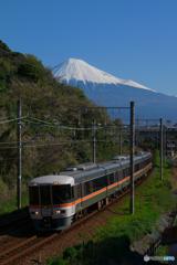 富士山とホームライナー