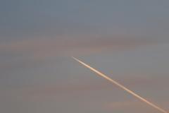 早朝の飛行機雲 190318-889