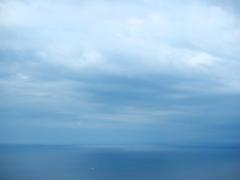 雨の海を見ました。