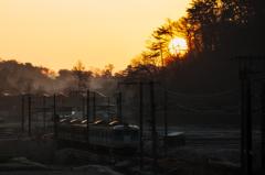 しなの鉄道の夜明け