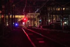 真夜中の安中駅