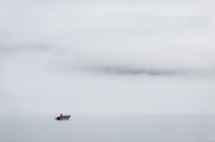 朝霧の中へ・・・