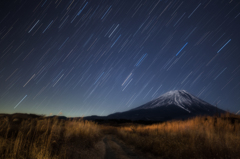 朝霧高原に星が降る