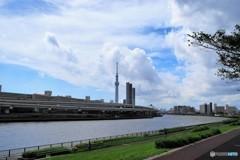 汐入と隅田川、、、。