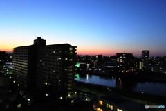 14階の黄昏、、。