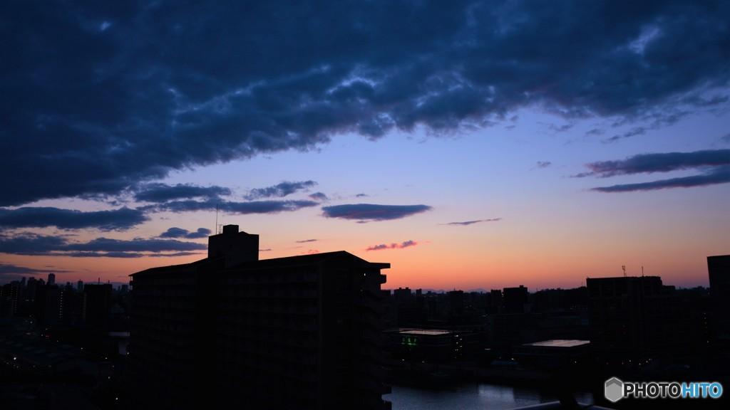 14階からの夕景、、、。
