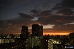 台風一過の夕焼け~①