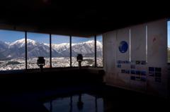 山岳博物館からの北アルプス