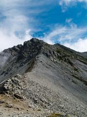 富士ノ折立からの稜線