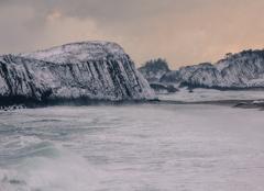 間人海岸冬景色