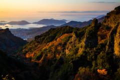 寒霞渓の夜明け