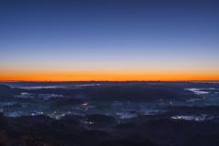 九十九谷展望公園からの日の出-1
