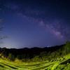 鴨川の大山千枚田と天の川撮影-2