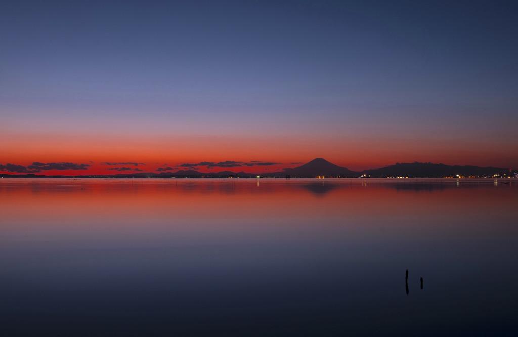 江川海岸からの夕焼け-2