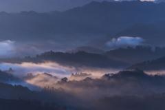 九十九谷展望公園からの日の出-3