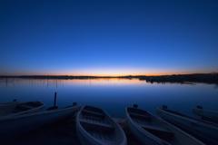印旛沼 夜明け前
